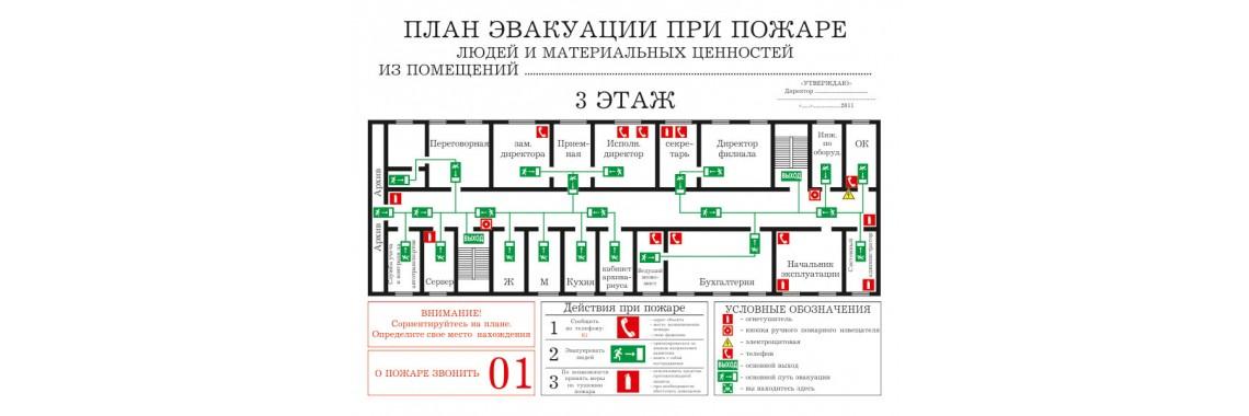 Планы эвакуации (ГОСТ Р 12.2.143-2009)